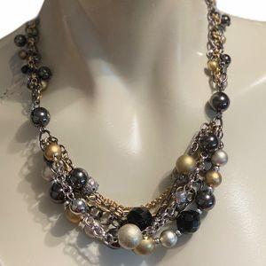 Chico's multi strand collar necklace